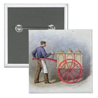 The Ice Cream Seller, 1895 Pinback Button