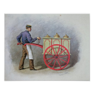 The Ice Cream Seller, 1895 Poster