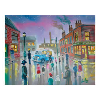 The Ice Cream Van oil painting Poster