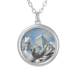 The Ice Man Silver Plated Necklace