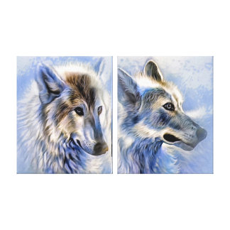 The Ice Wolf Canvas Print