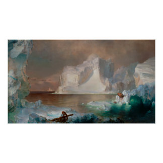 The Icebergs by Frederic Edwin Church 1861 Poster