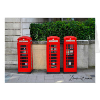 The Iconic Red Phone Booths of London Card