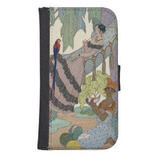 The idle beauty (pochoir print) galaxy s4 wallet cases