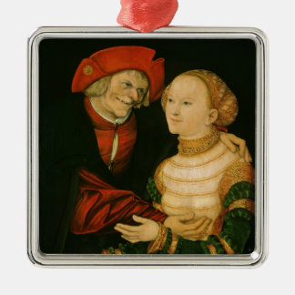 The Ill-Matched Couple Metal Ornament