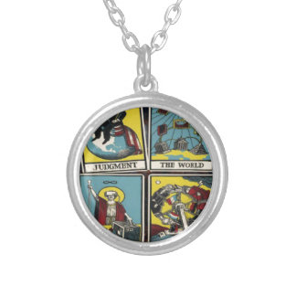 THE ILLUMINATI CARD GAME SILVER PLATED NECKLACE