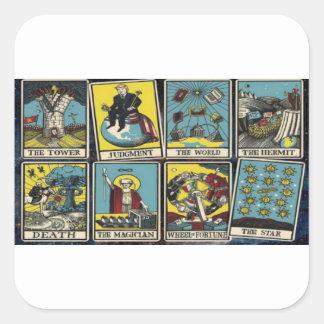 THE ILLUMINATI CARD GAME SQUARE STICKER