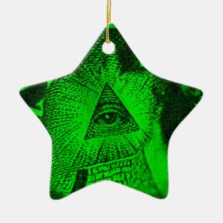 The Illuminati Eye Ceramic Ornament
