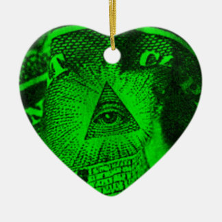 The Illuminati Eye Ceramic Ornament