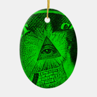 The Illuminati Eye Ceramic Oval Ornament