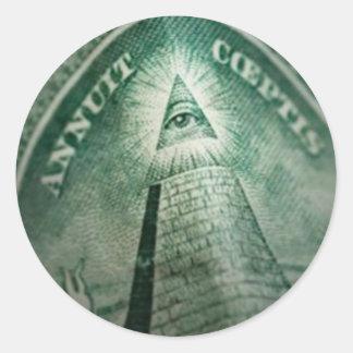 The Illuminati Eye Classic Round Sticker