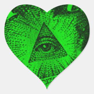 The Illuminati Eye Heart Sticker