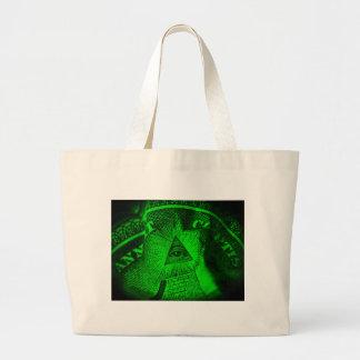 The Illuminati Eye Large Tote Bag