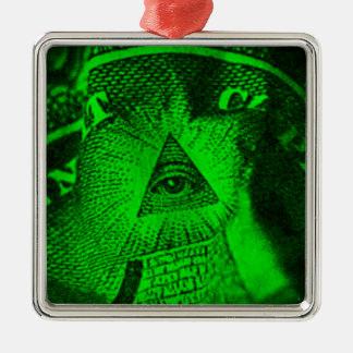 The Illuminati Eye Metal Ornament