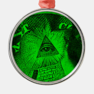 The Illuminati Eye Metal Ornament