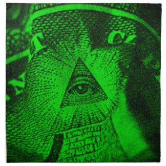 The Illuminati Eye Napkin