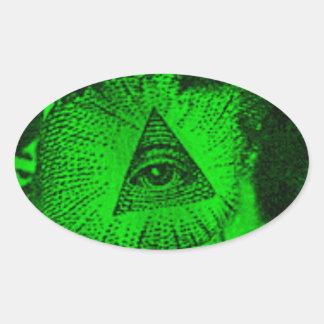 The Illuminati Eye Oval Sticker