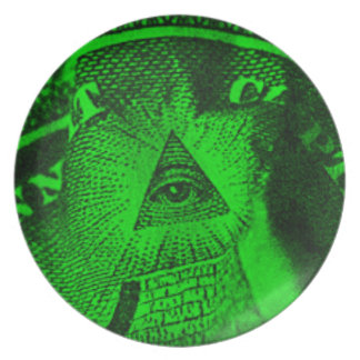 The Illuminati Eye Plate