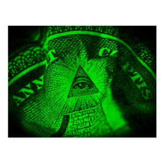 The Illuminati Eye Postcard
