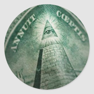 The Illuminati Eye Round Sticker