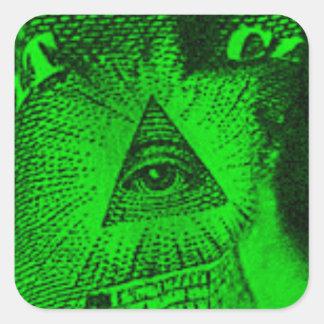 The Illuminati Eye Square Sticker