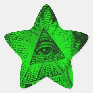 The Illuminati Eye Star Sticker