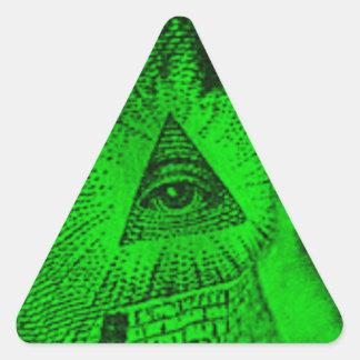 The Illuminati Eye Triangle Sticker