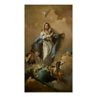 The Immaculate Conception by Giovanni B. Tiepolo Poster
