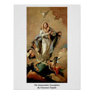 The Immaculate Conception By Giovanni Tiepolo Poster