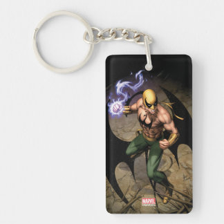 The Immortal Iron Fist Double-Sided Rectangular Acrylic Keychain