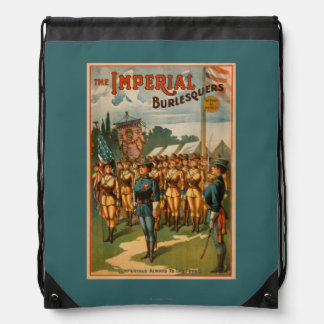 The Imperial Burlesquers Female Soldiers Play Drawstring Backpack