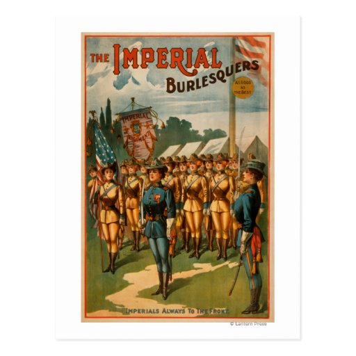 The Imperial Burlesquers Female Soldiers Play Post Card