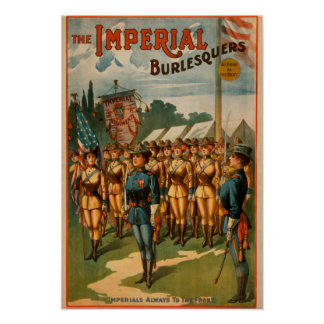 The Imperial Burlesquers Female Soldiers Play Poster