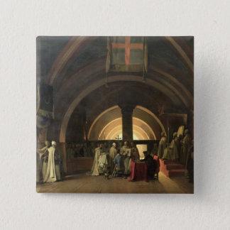 The Inauguration of Jacques de Molay 2 Inch Square Button