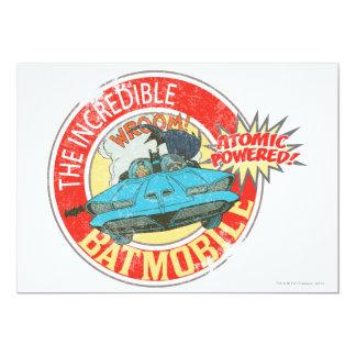 """The Incredible Batmobile Icon 5"""" X 7"""" Invitation Card"""