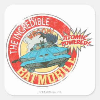 The Incredible Batmobile Icon Square Sticker
