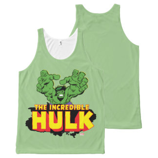 The Incredible Hulk Logo All-Over-Print Tank Top