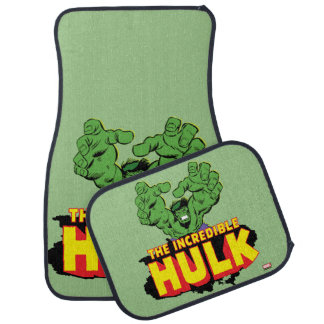 The Incredible Hulk Logo Car Mat