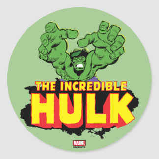 The Incredible Hulk Logo Classic Round Sticker