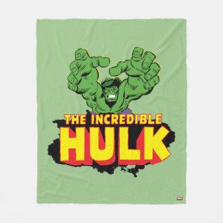 The Incredible Hulk Logo Fleece Blanket
