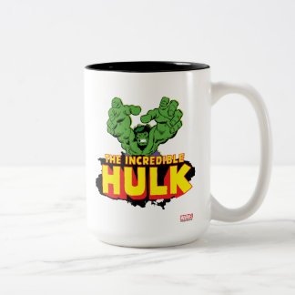The Incredible Hulk Logo Two-Tone Coffee Mug