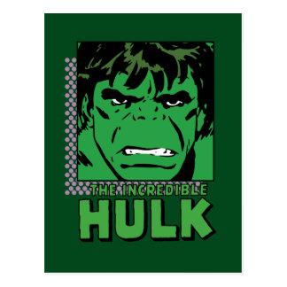 The Incredible Hulk Retro Comic Icon Postcard