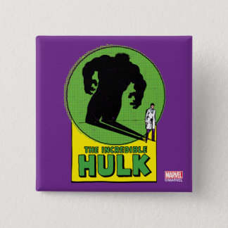 The Incredible Hulk Vintage Shadow Graphic 2 Inch Square Button