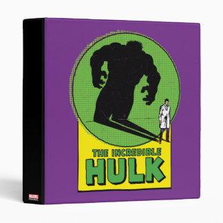 The Incredible Hulk Vintage Shadow Graphic 3 Ring Binders