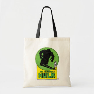 The Incredible Hulk Vintage Shadow Graphic Budget Tote Bag