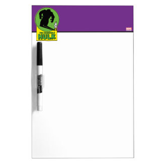The Incredible Hulk Vintage Shadow Graphic Dry Erase Board