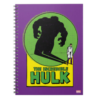 The Incredible Hulk Vintage Shadow Graphic Note Books