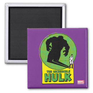 The Incredible Hulk Vintage Shadow Graphic Square Magnet