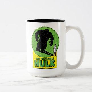 The Incredible Hulk Vintage Shadow Graphic Two-Tone Coffee Mug