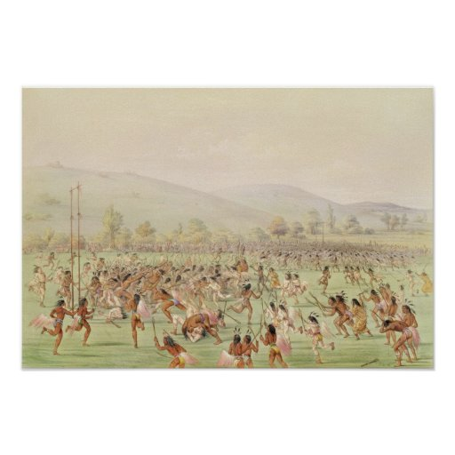 The Indian Ball Game, c.1832 Poster